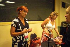 Jaci Burton and Angela James took a few minutes to talk with conference attendees after the session ended.