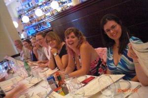 Thursday - Carina Press blogger and reviewer dinner 1 (Joyce Ann, Blythe, Sabrina, Wendy, ..., Angela James and SBSarah