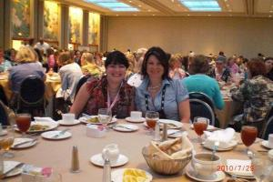 Thursday luncheon - Juliana Stone and room mate