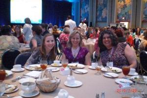 Thursday luncheon - Mandy Klasky, Nancy Yeager and Christina Watson