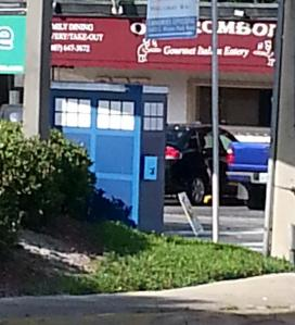 TARDIS on the way to work