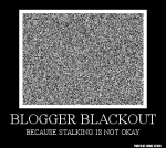 Blogger Blackout - badge