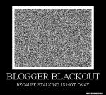 Blogger Blackout - badge