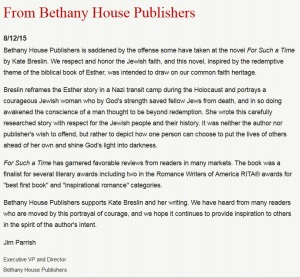 Bethany House in support of KB-For Such A Time